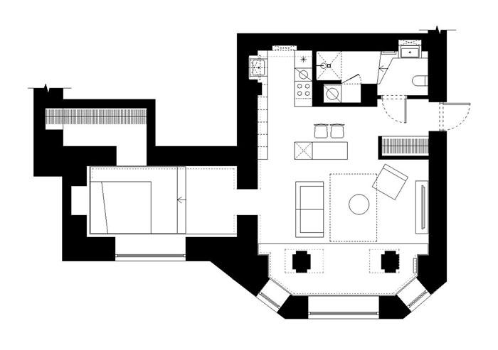 basement apartment kaunas 1planas 2