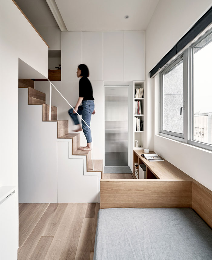 Micro Apartment with Space-Saving Furniture by A Little ...