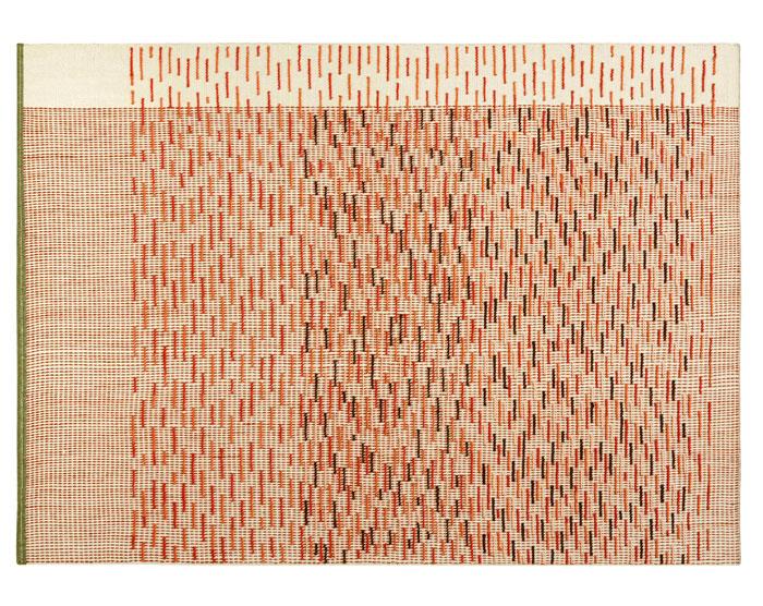 kilim raw edges backstitch busy brick 1