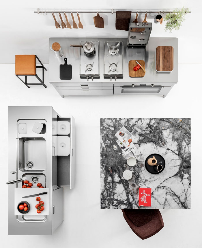 metal kitchen cabinets glamorous look 2