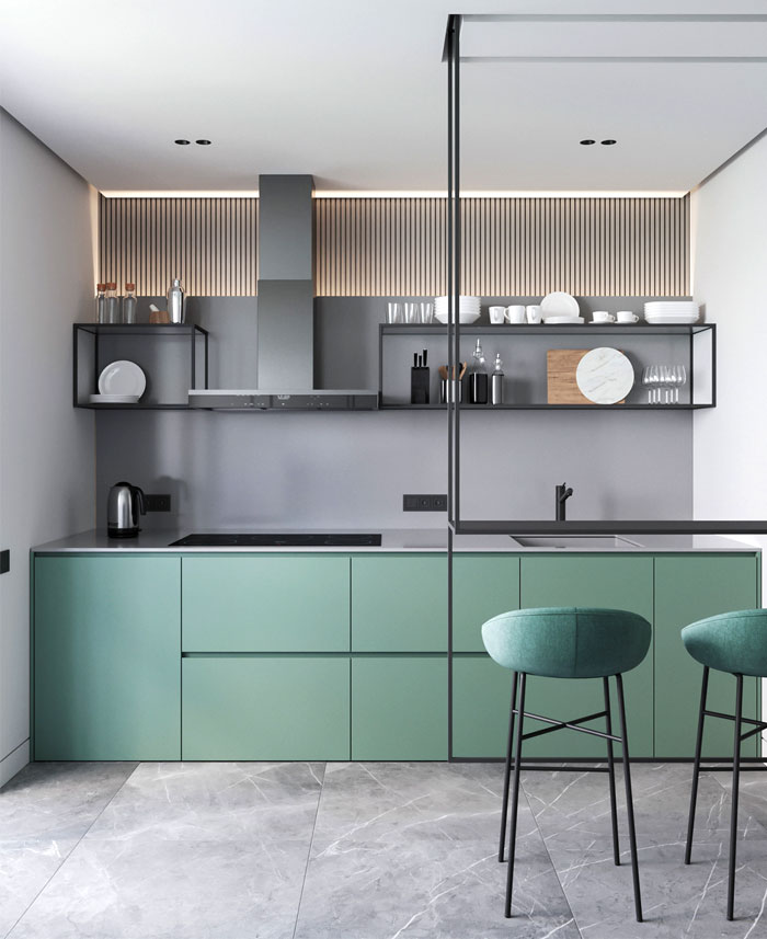 trendy color choice kitchen 7