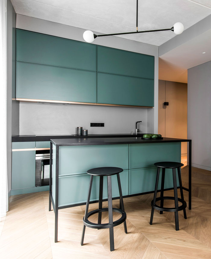 trendy color choice kitchen 8