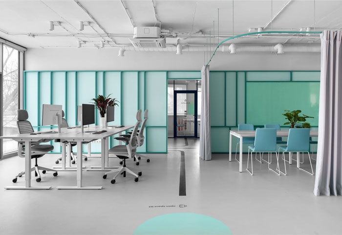 colorful appodeal office wayfinding system 2