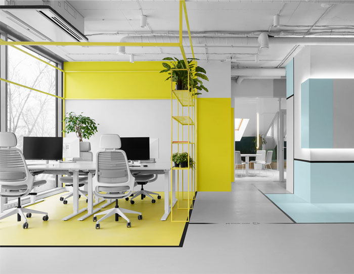 colorful appodeal office wayfinding system 3
