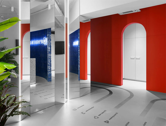 colorful appodeal office wayfinding system 5