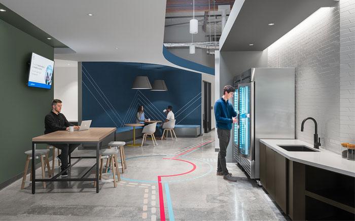colorful linkedin office wayfinding system 1