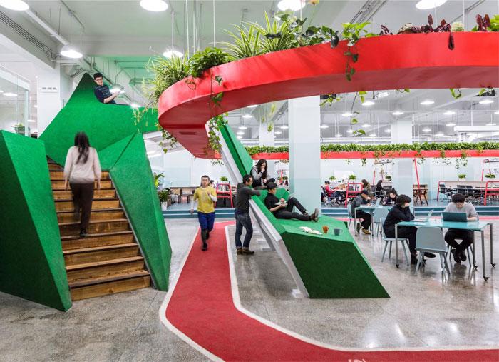 greenery office design leping social entrepreneur foundation 4