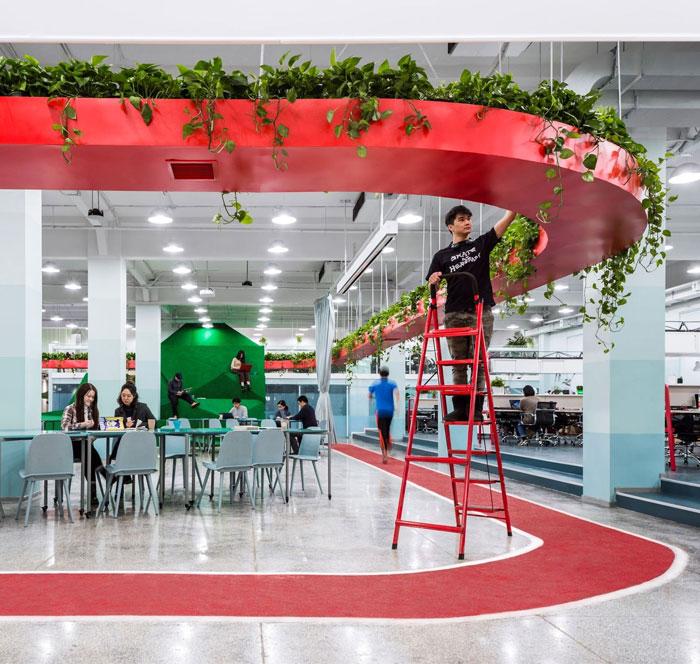 greenery office design leping social entrepreneur foundation 5