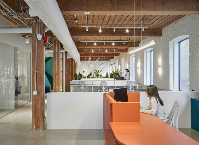 lobby office reception decor ideas lebel bouliane 2