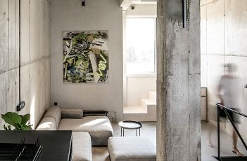Vertically Oriented Loft Situated in Industrial Building