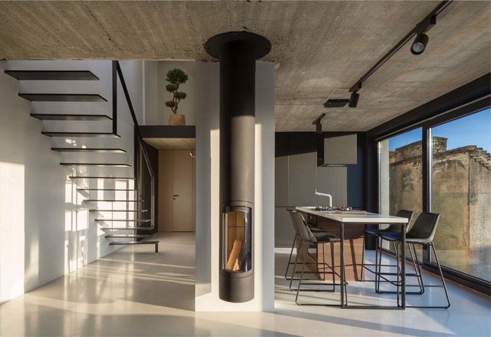 stylish mezzanine apartment bratislava 3