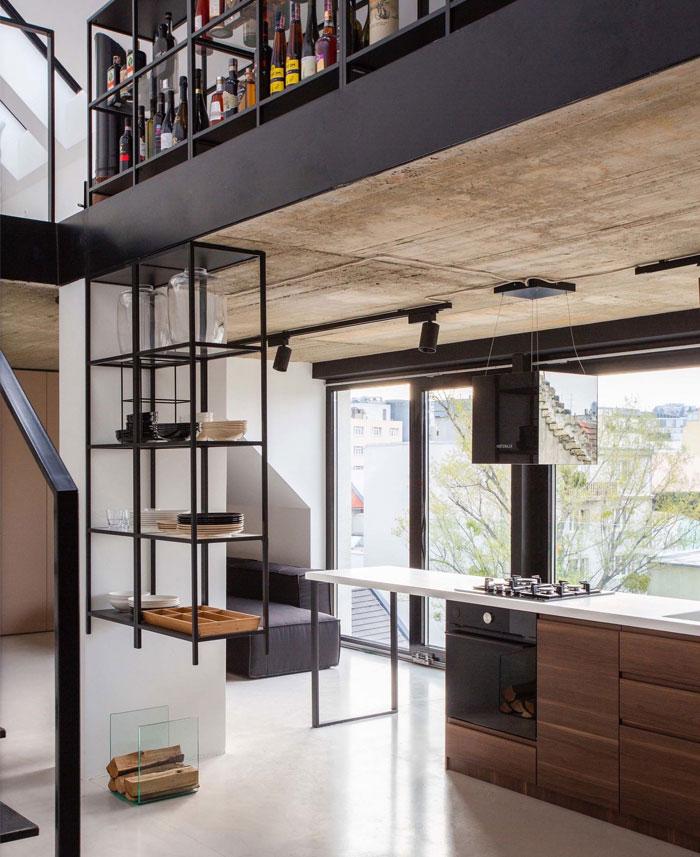 stylish mezzanine apartment bratislava 8