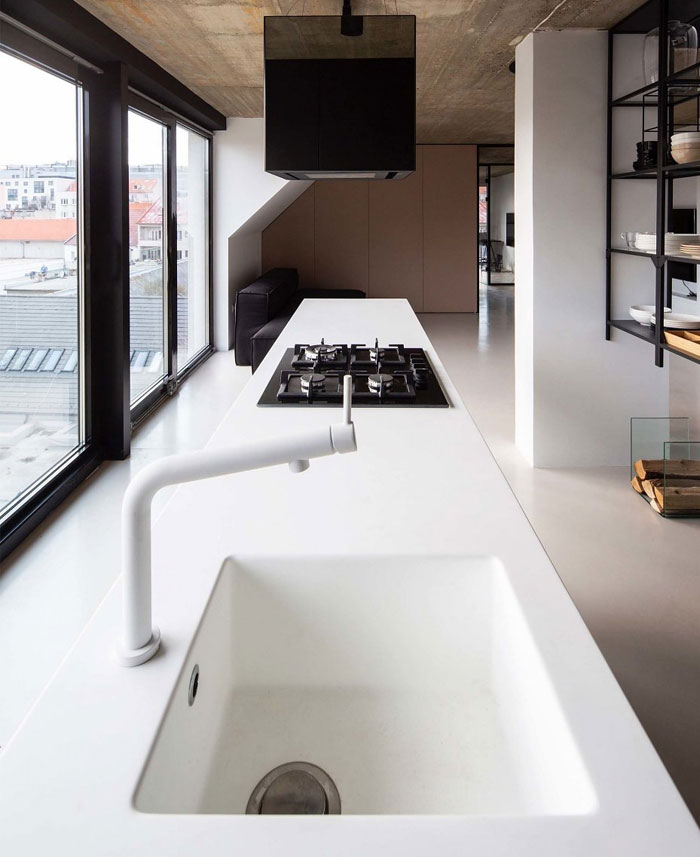 stylish mezzanine apartment bratislava 9