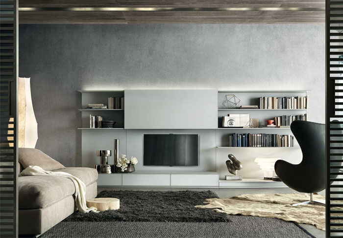 tv feature wall with storage 6