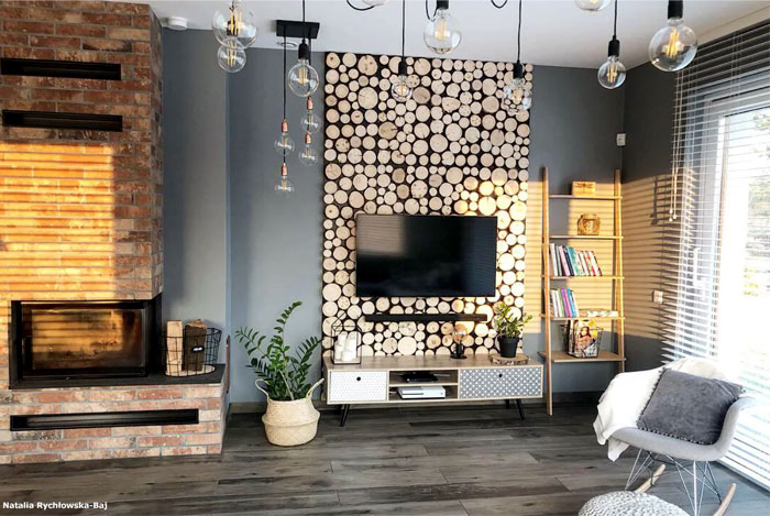 wooden tv wall mount designs 11