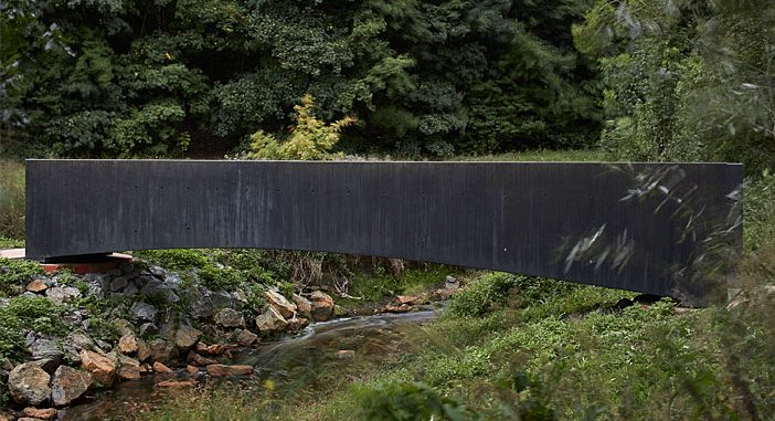 Bridge Made of Ultra-High Performance Concrete by Aoc Architects