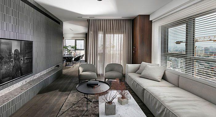 Minimalist Apartment With A Neutral Color Palette by Erez Hyatt