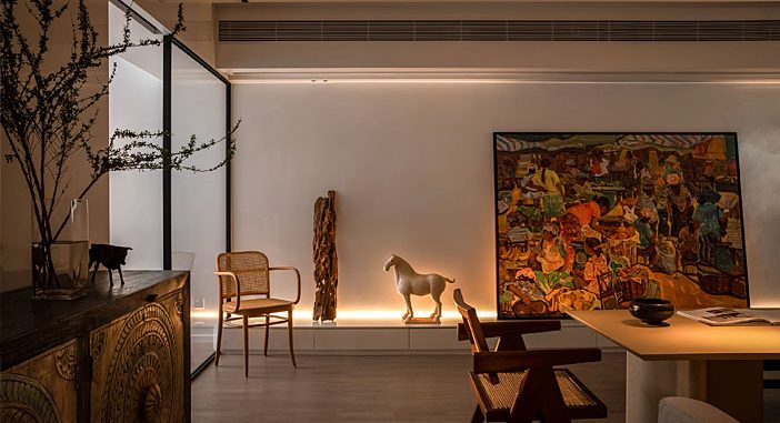 Jingu Phoenix Space Planning Organization Redesigned an Old Apartment into a Modern Space